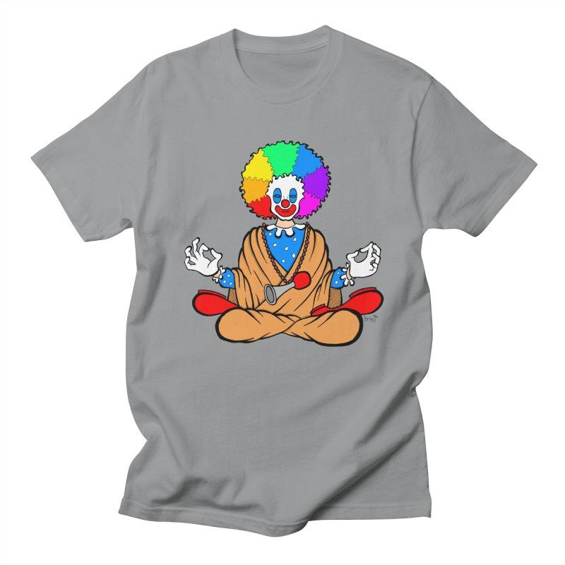 Zen Clown Men's Regular T-Shirt by brettgilbert's Artist Shop