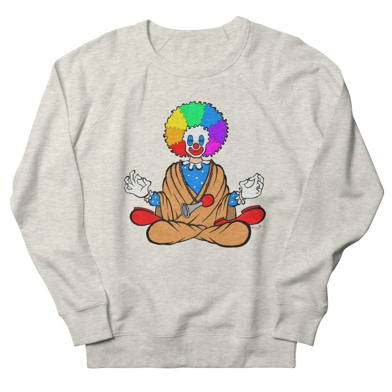 Zen Clown Women's French Terry Sweatshirt by brettgilbert's Artist Shop