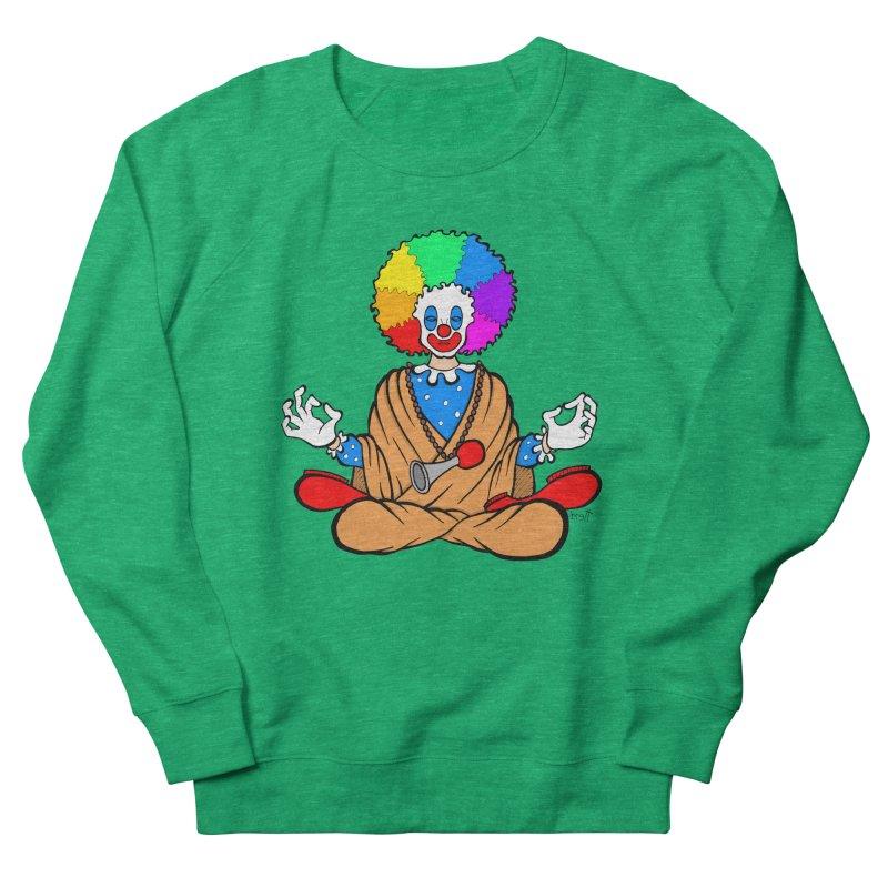 Zen Clown Men's French Terry Sweatshirt by brettgilbert's Artist Shop