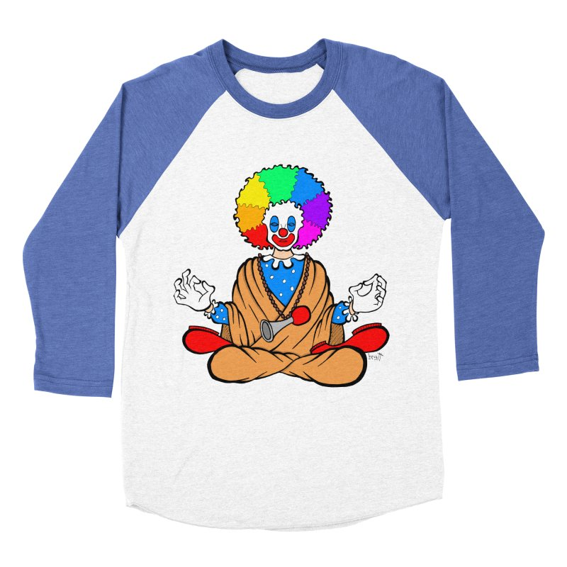 Zen Clown Women's Baseball Triblend T-Shirt by brettgilbert's Artist Shop