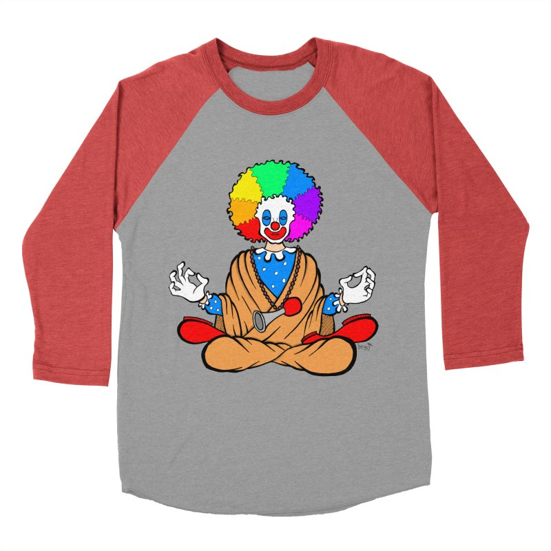 Zen Clown Women's Baseball Triblend Longsleeve T-Shirt by brettgilbert's Artist Shop
