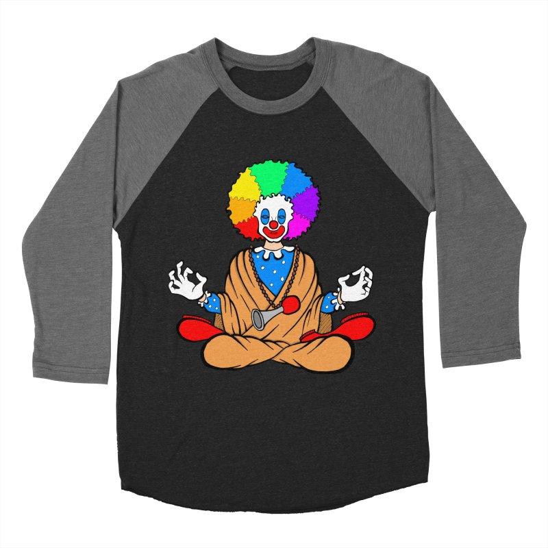 Zen Clown Women's Baseball Triblend T-Shirt by brettgilbert's Artist Shop