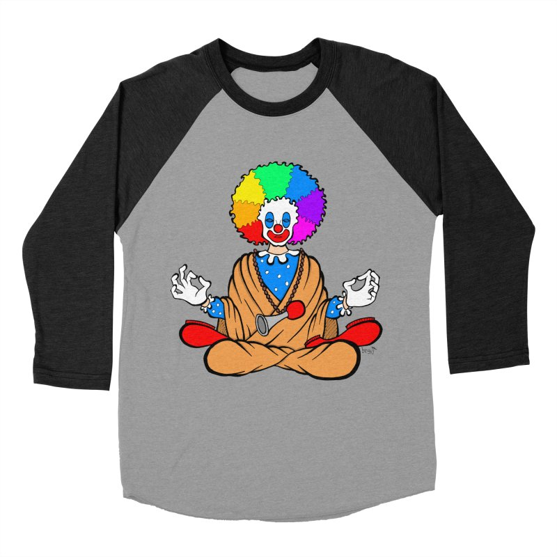Zen Clown Women's Baseball Triblend Longsleeve T-Shirt by brettgilbert's Artist Shop