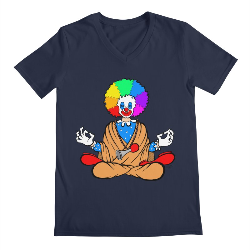 Zen Clown Men's V-Neck by brettgilbert's Artist Shop
