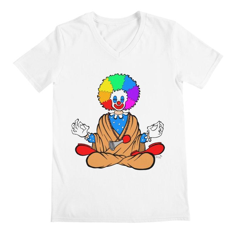 Zen Clown Men's Regular V-Neck by brettgilbert's Artist Shop