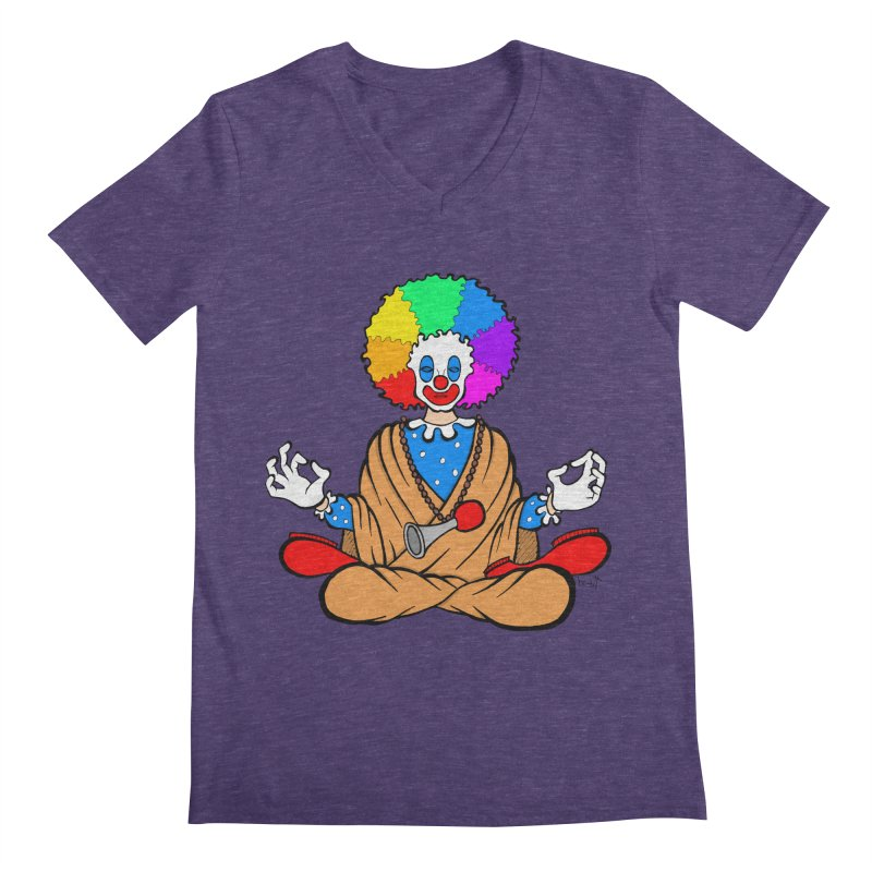 Zen Clown Men's V-Neck by brettgilbert's Artist Shop