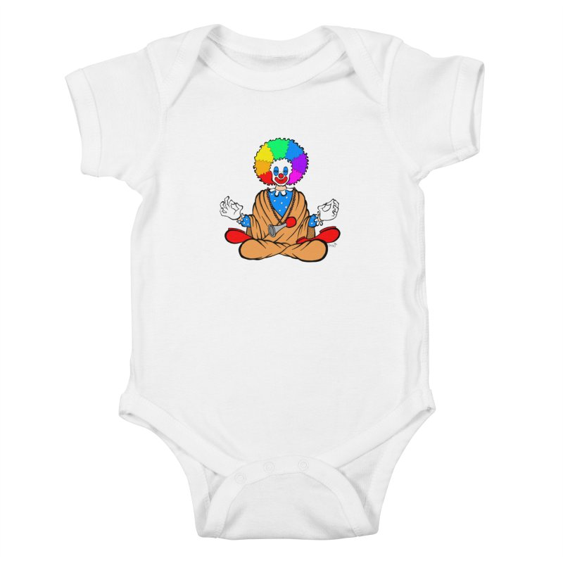 Zen Clown Kids Baby Bodysuit by brettgilbert's Artist Shop