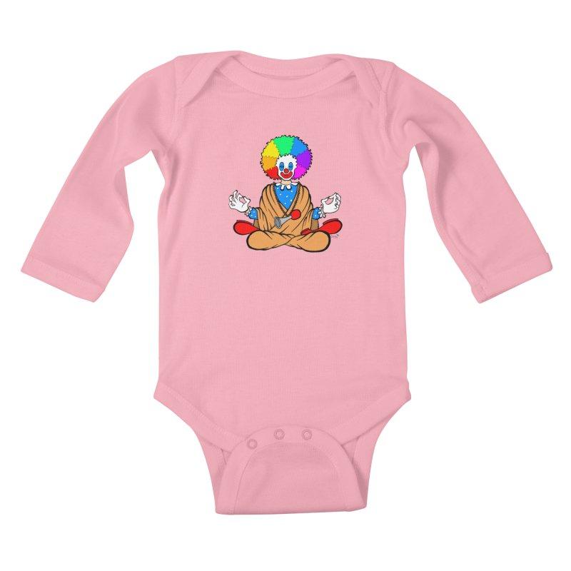 Zen Clown Kids Baby Longsleeve Bodysuit by brettgilbert's Artist Shop