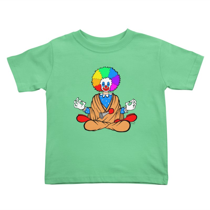 Zen Clown Kids Toddler T-Shirt by brettgilbert's Artist Shop