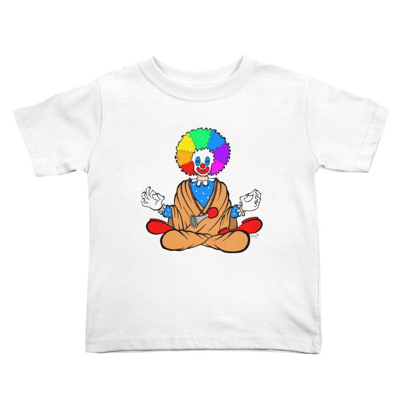 Zen Clown Kids Toddler T-Shirt by brettgilbert's Artist Shop