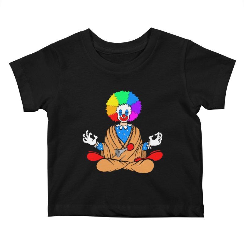 Zen Clown Kids Baby T-Shirt by brettgilbert's Artist Shop