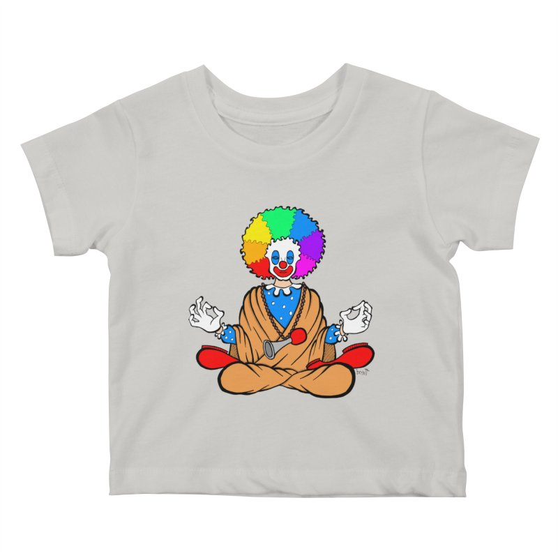 Zen Clown Kids Baby T-Shirt by brettgilbert's Artist Shop