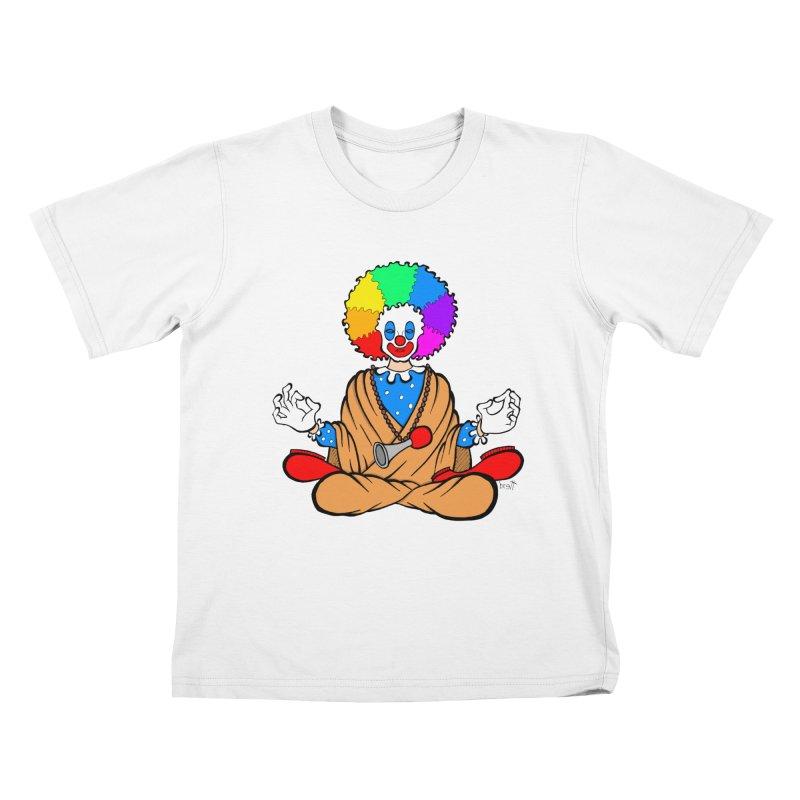 Zen Clown Kids T-Shirt by brettgilbert's Artist Shop