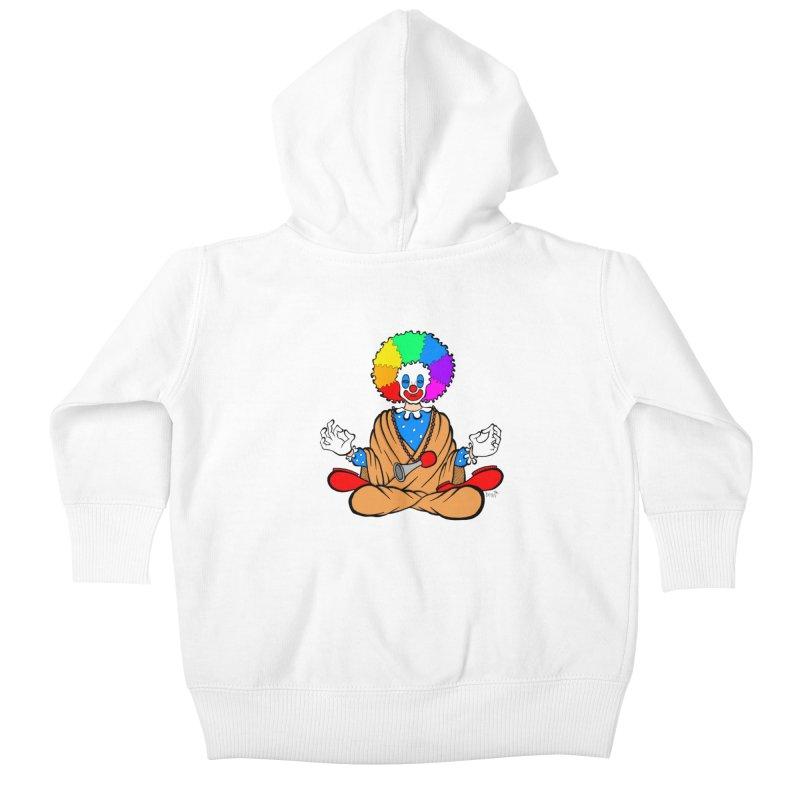 Zen Clown Kids Baby Zip-Up Hoody by brettgilbert's Artist Shop