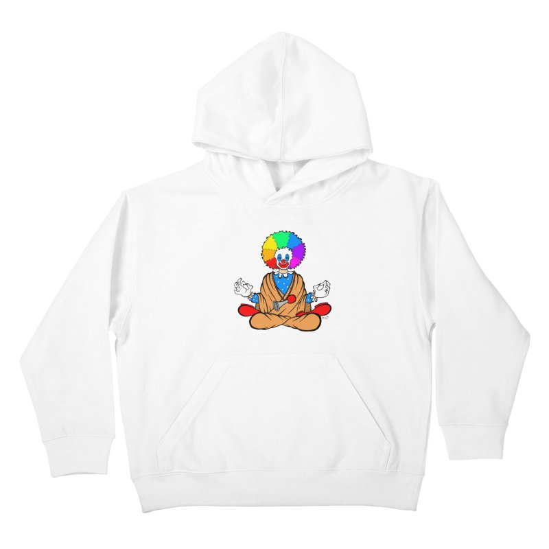 Zen Clown Kids Pullover Hoody by brettgilbert's Artist Shop