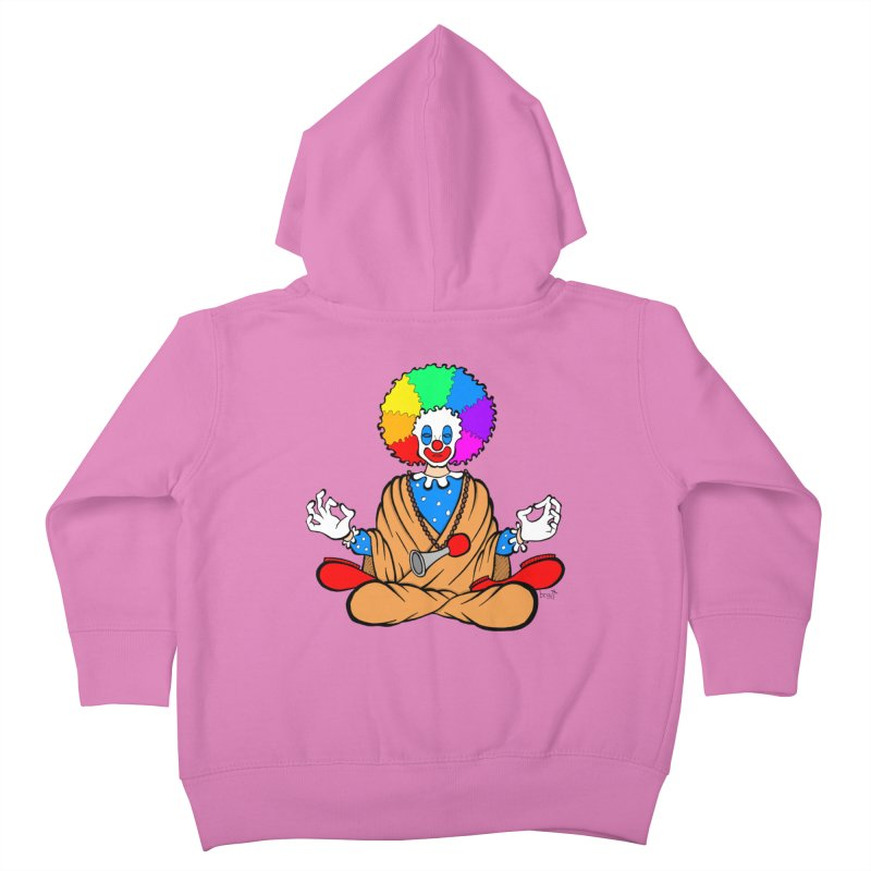 Zen Clown Kids Toddler Zip-Up Hoody by brettgilbert's Artist Shop
