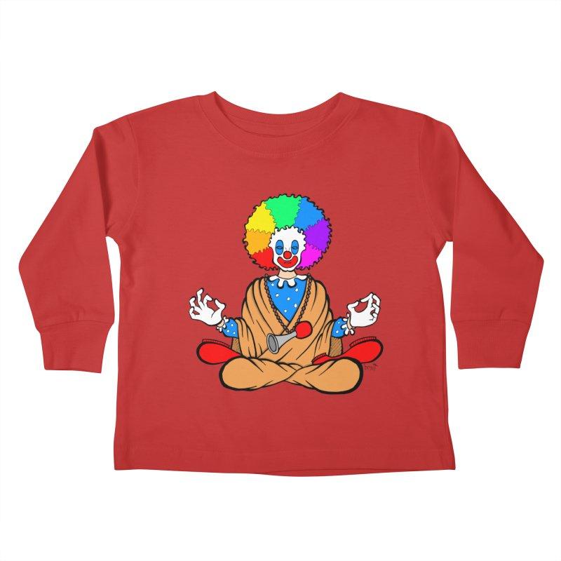 Zen Clown Kids Toddler Longsleeve T-Shirt by brettgilbert's Artist Shop