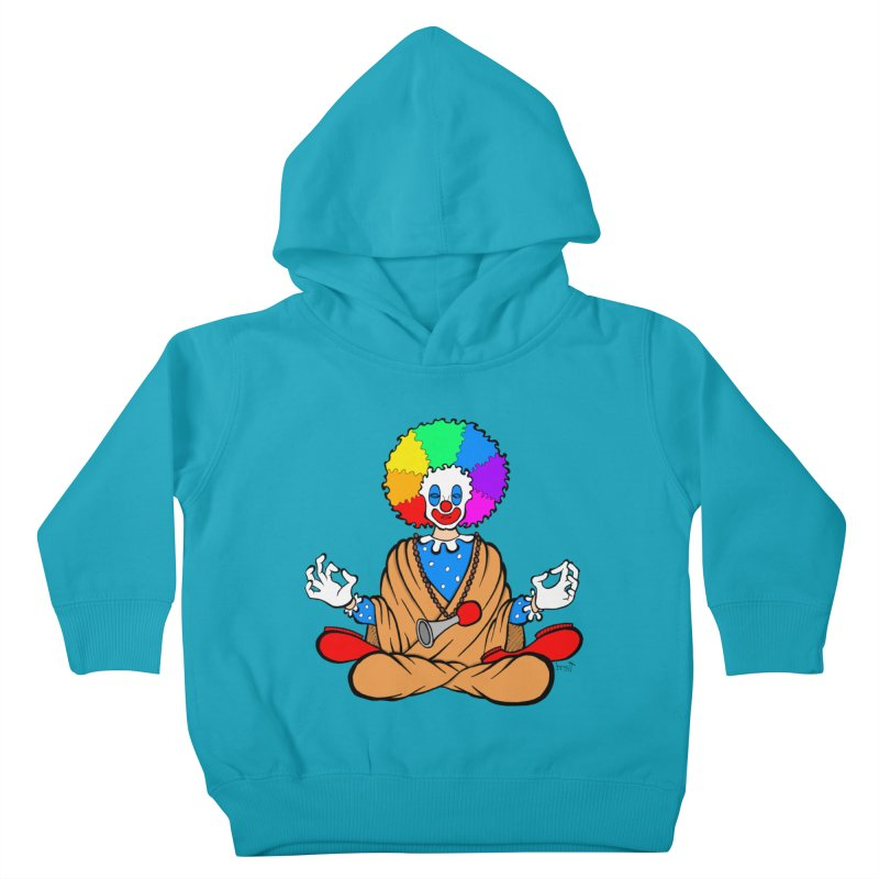 Zen Clown Kids Toddler Pullover Hoody by brettgilbert's Artist Shop