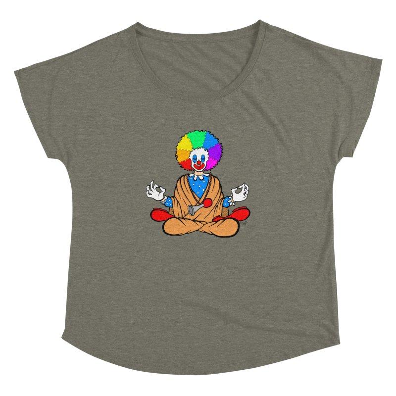 Zen Clown Women's Dolman Scoop Neck by brettgilbert's Artist Shop