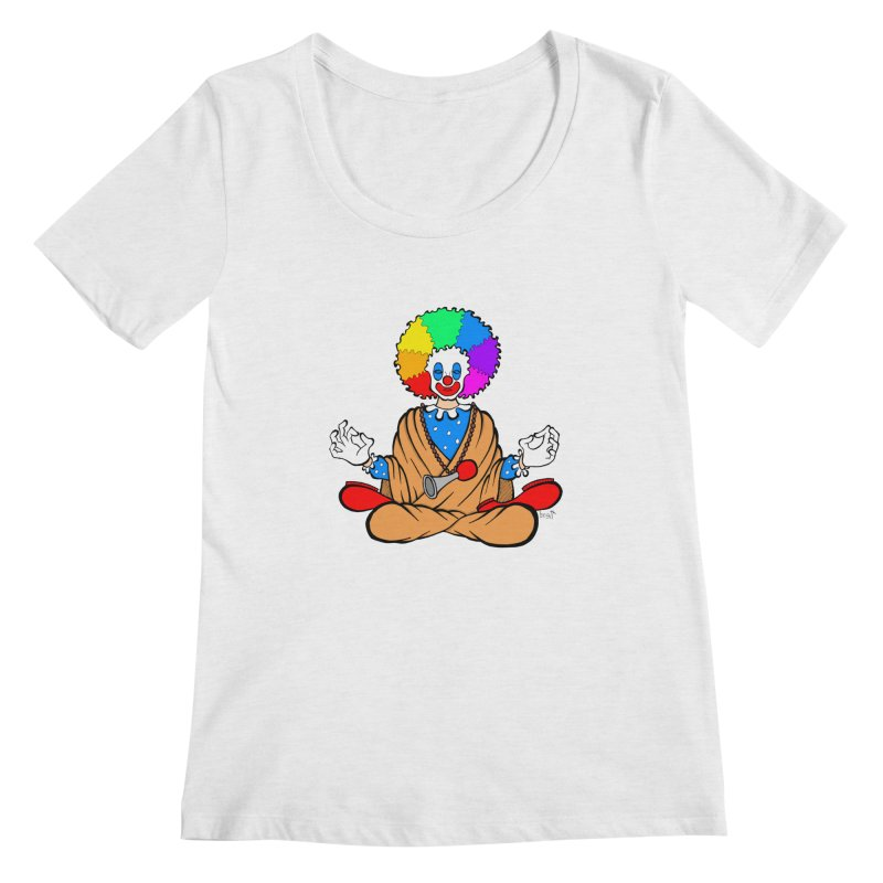 Zen Clown Women's Regular Scoop Neck by brettgilbert's Artist Shop