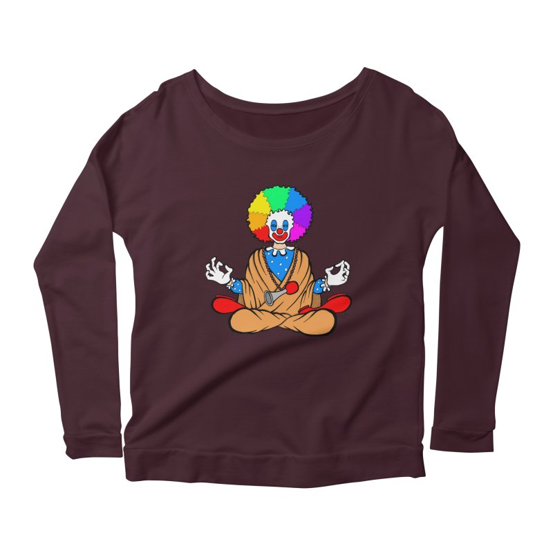 Zen Clown Women's Longsleeve Scoopneck  by brettgilbert's Artist Shop