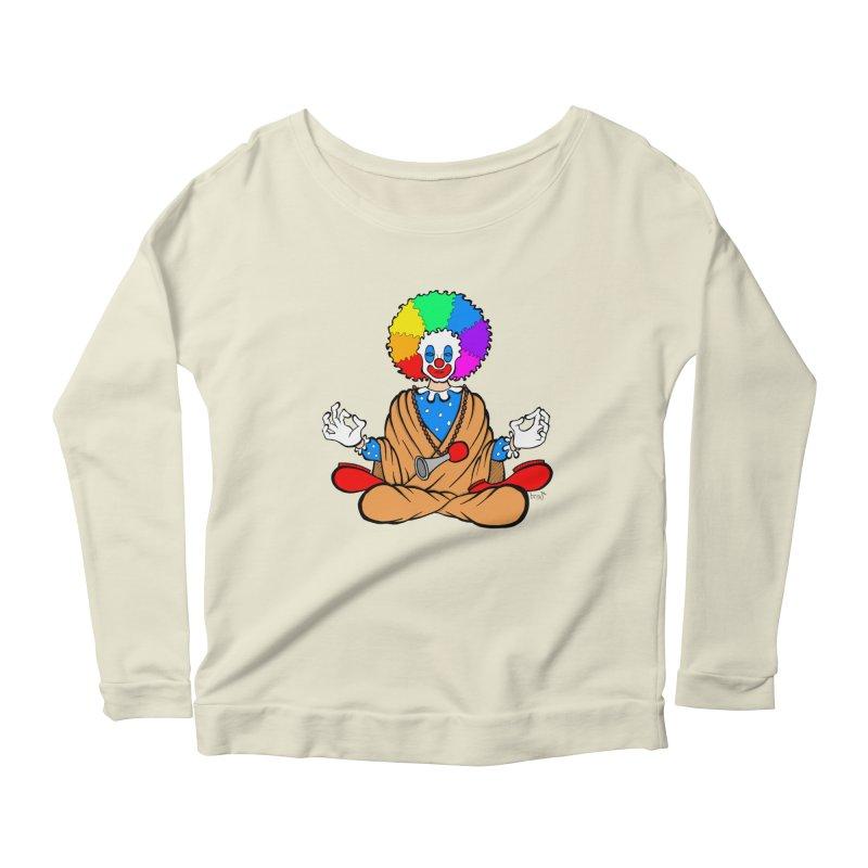 Zen Clown Women's Longsleeve Scoopneck  by brettgilbert's Artist Shop