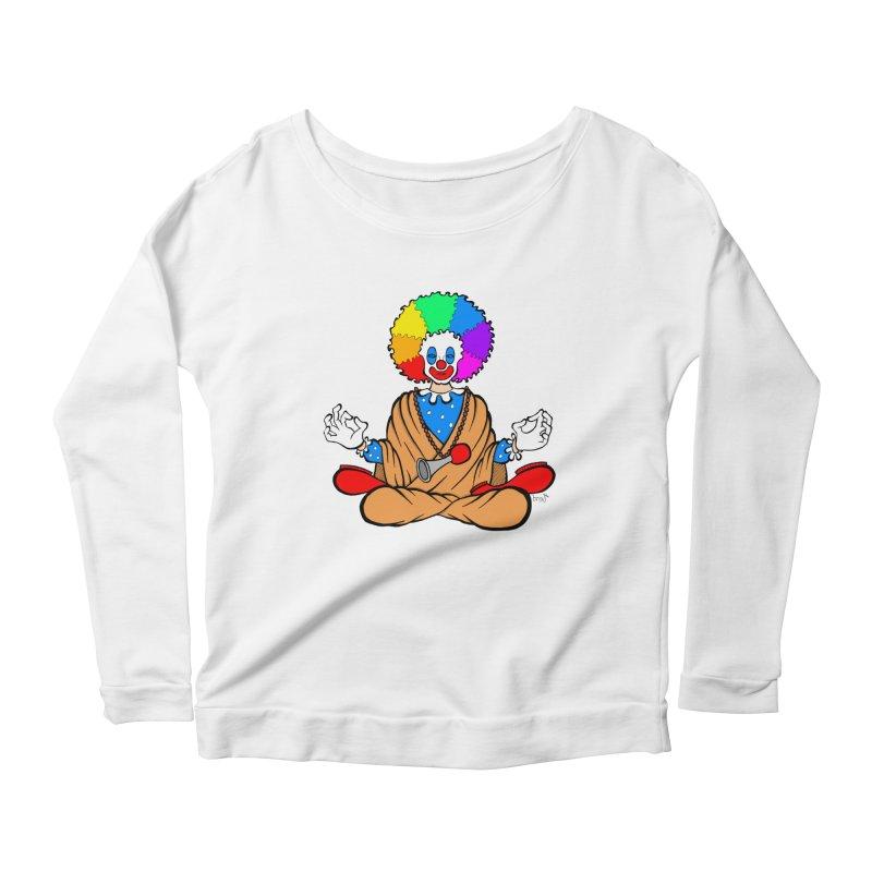 Zen Clown Women's Scoop Neck Longsleeve T-Shirt by brettgilbert's Artist Shop