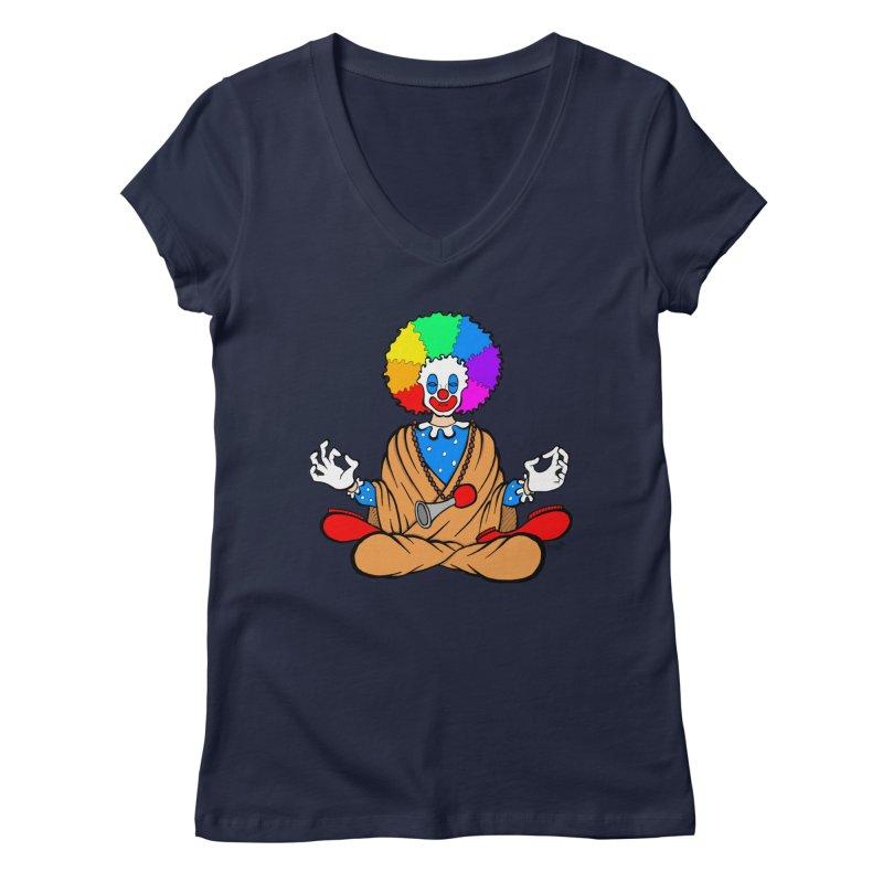 Zen Clown Women's V-Neck by brettgilbert's Artist Shop