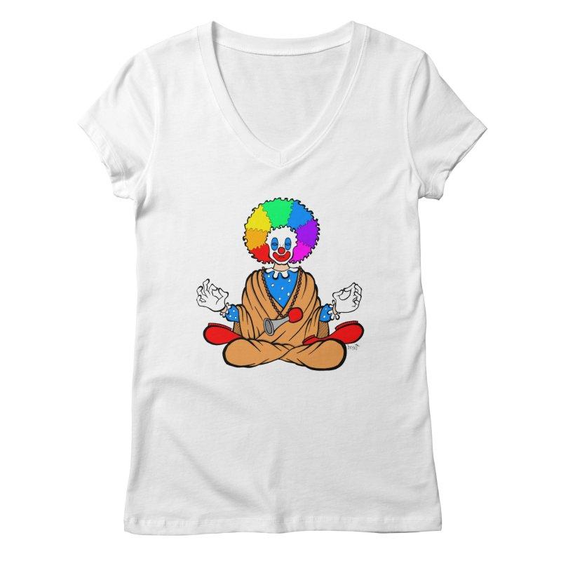 Zen Clown Women's Regular V-Neck by brettgilbert's Artist Shop