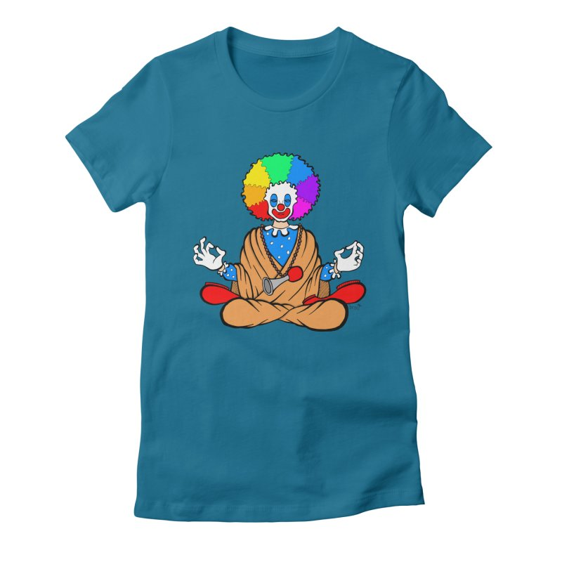 Zen Clown Women's Fitted T-Shirt by brettgilbert's Artist Shop