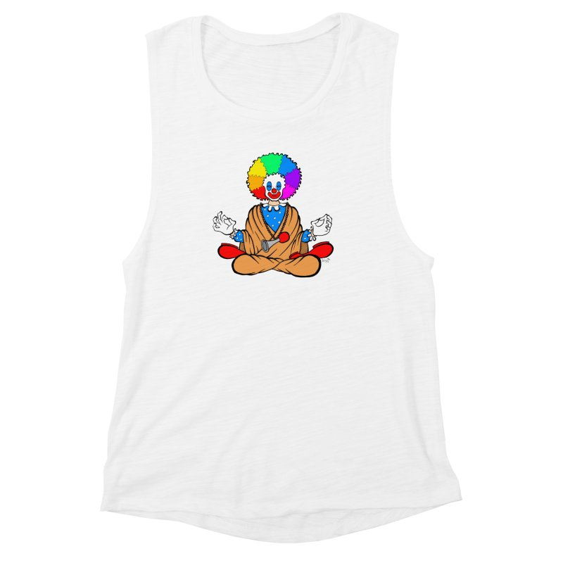 Zen Clown Women's Muscle Tank by brettgilbert's Artist Shop