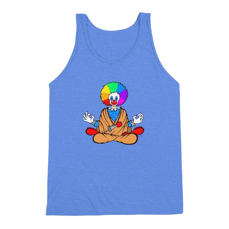 Zen Clown Men's Triblend Tank by brettgilbert's Artist Shop