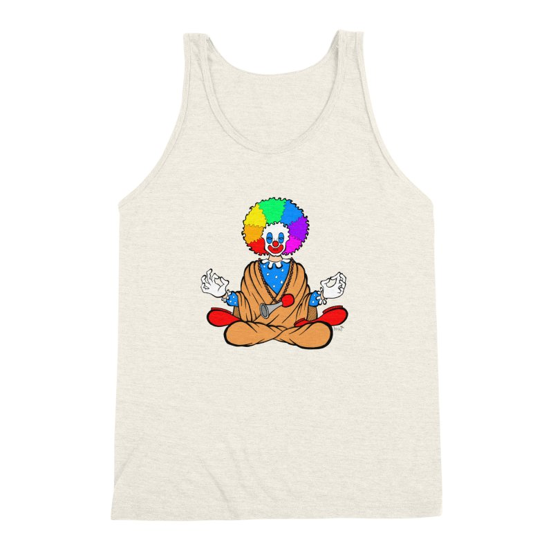 Zen Clown Men's Triblend Tank by brettgilbert's Artist Shop