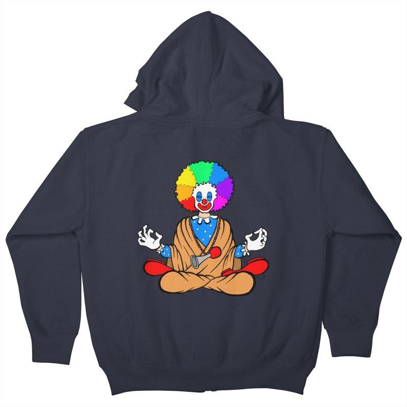 Zen Clown Kids Zip-Up Hoody by brettgilbert's Artist Shop