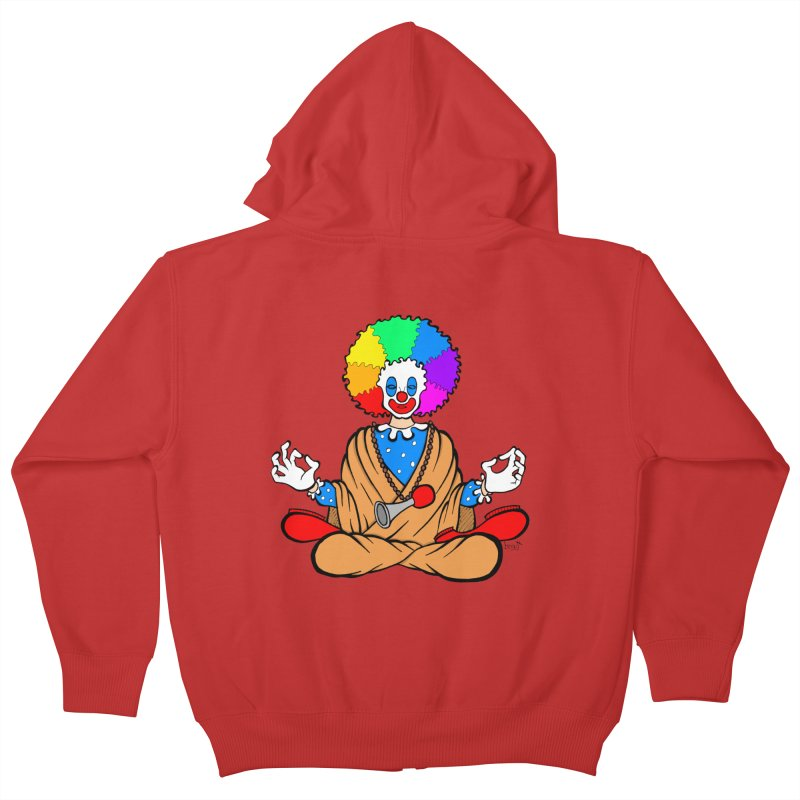Zen Clown Kids Zip-Up Hoody by brettgilbert's Artist Shop
