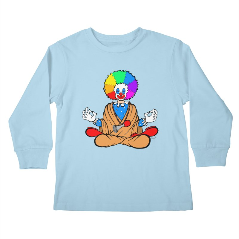 Zen Clown Kids Longsleeve T-Shirt by brettgilbert's Artist Shop