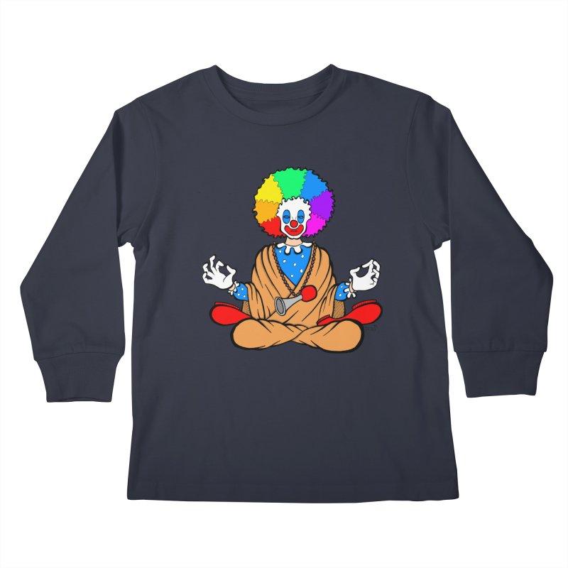 Zen Clown Kids Longsleeve T-Shirt by brettgilbert's Artist Shop