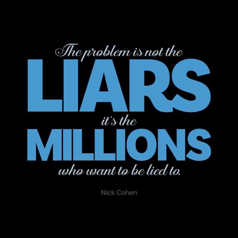 The Problem Is Not The Liars… Accessories Zip Pouch by Brett Jordan's Artist Shop