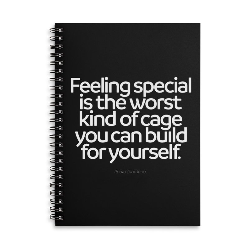 Feeling Special Is The Worst Kind Of Cage Accessories Notebook by Brett Jordan's Artist Shop