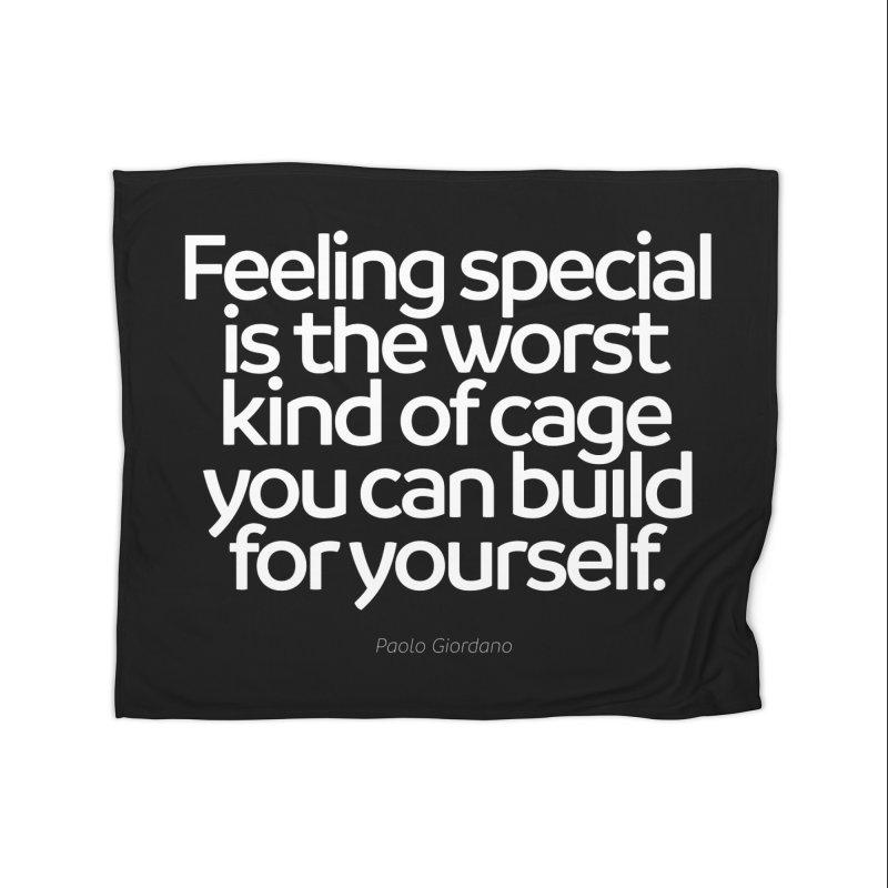 Feeling Special Is The Worst Kind Of Cage Home Fleece Blanket Blanket by Brett Jordan's Artist Shop