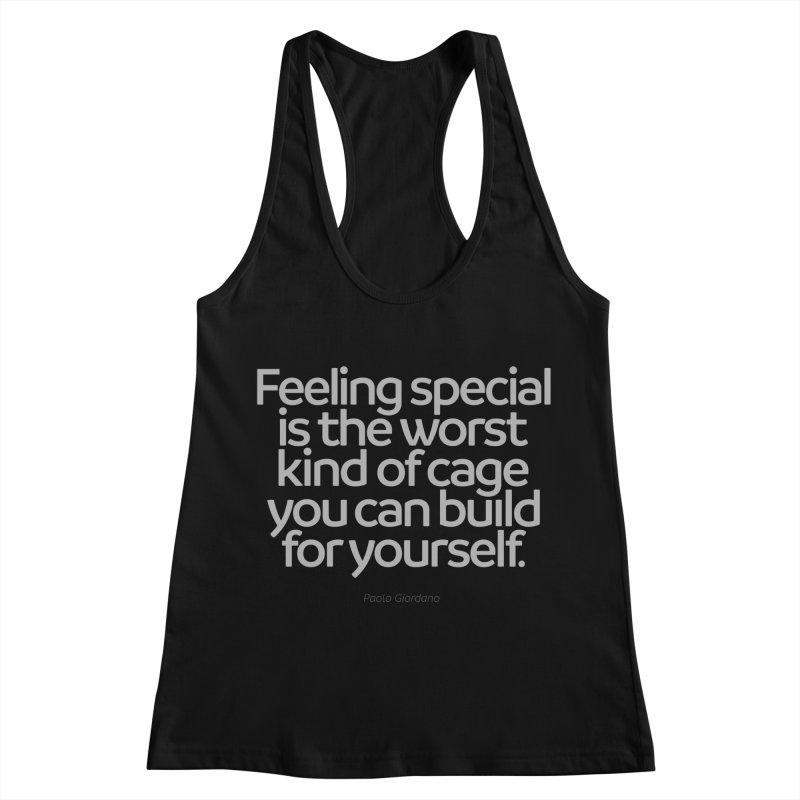 Feeling Special Is The Worst Kind Of Cage Women's Racerback Tank by Brett Jordan's Artist Shop