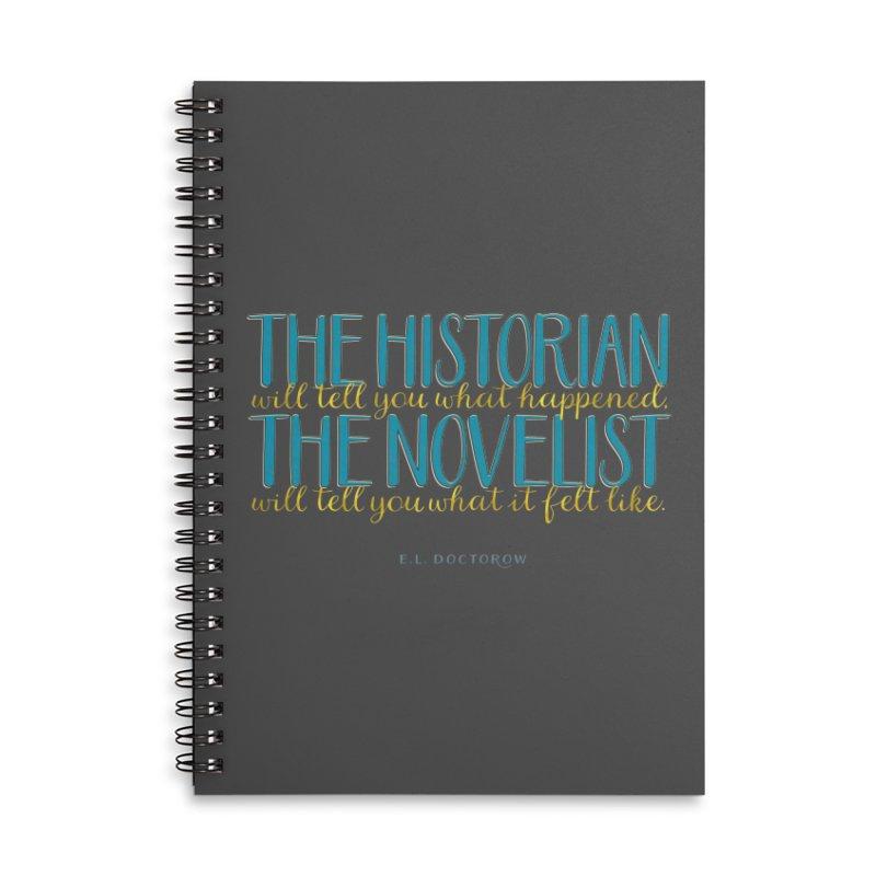 The Historian & The Novelist Accessories Notebook by Brett Jordan's Artist Shop