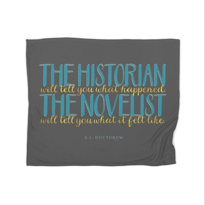 The Historian & The Novelist Home Fleece Blanket Blanket by Brett Jordan's Artist Shop