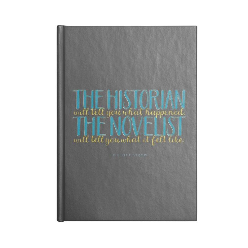 The Historian & The Novelist Accessories Blank Journal Notebook by Brett Jordan's Artist Shop