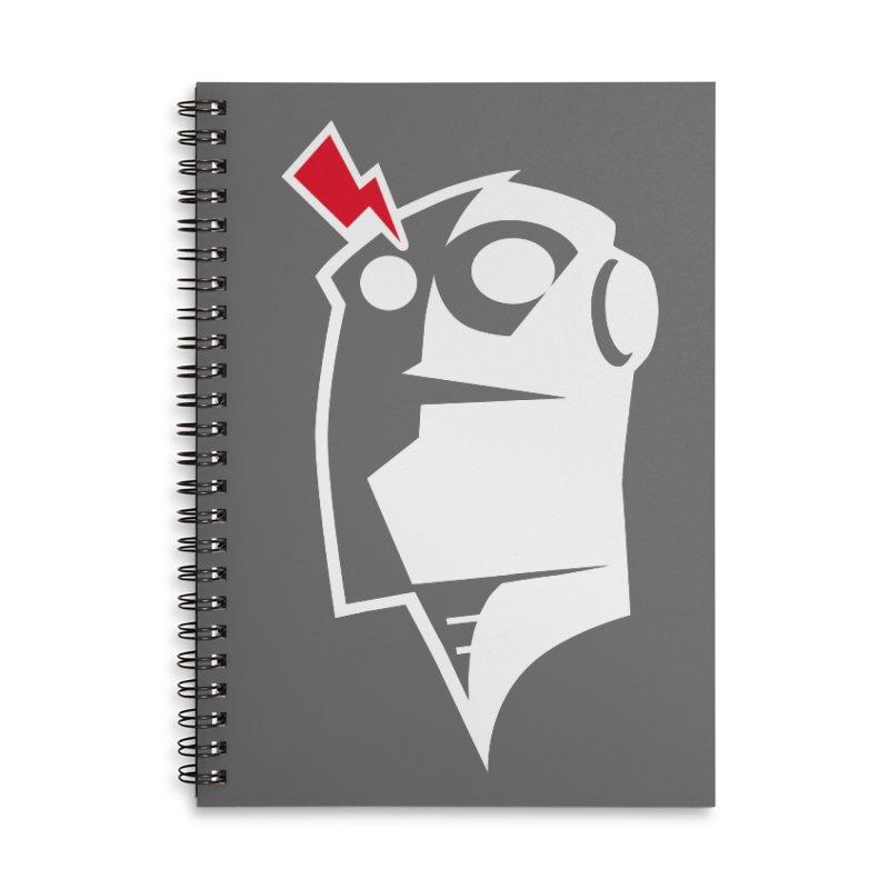 Robot Head Accessories Notebook by Brett Jordan's Artist Shop