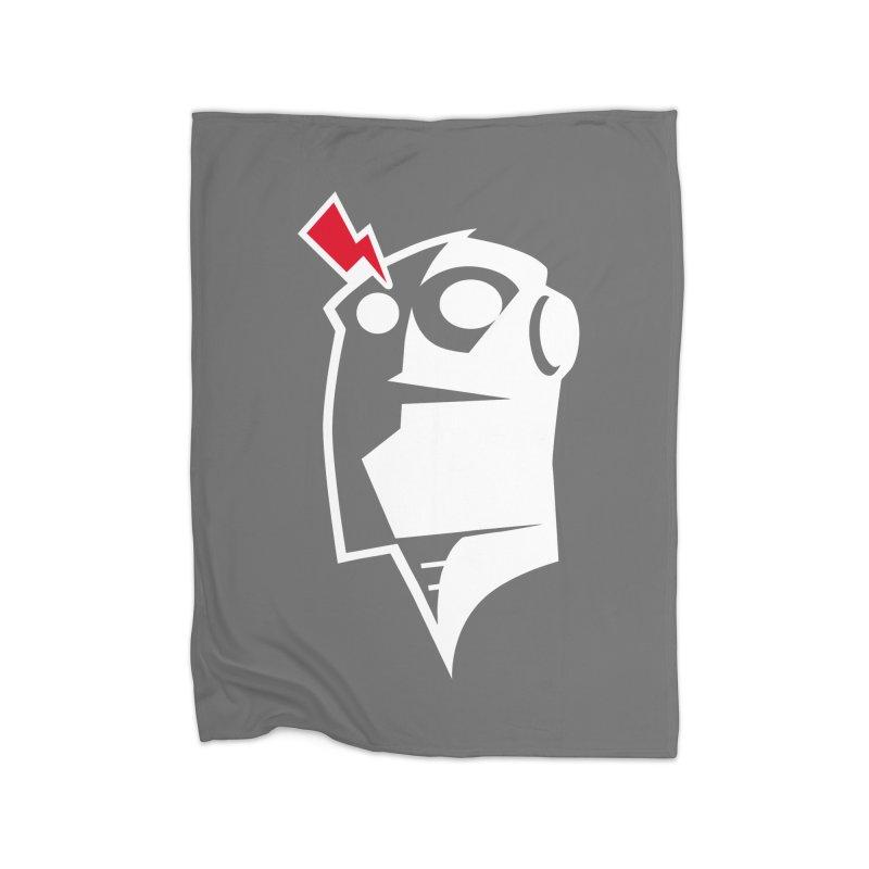 Robot Head Home Fleece Blanket Blanket by Brett Jordan's Artist Shop