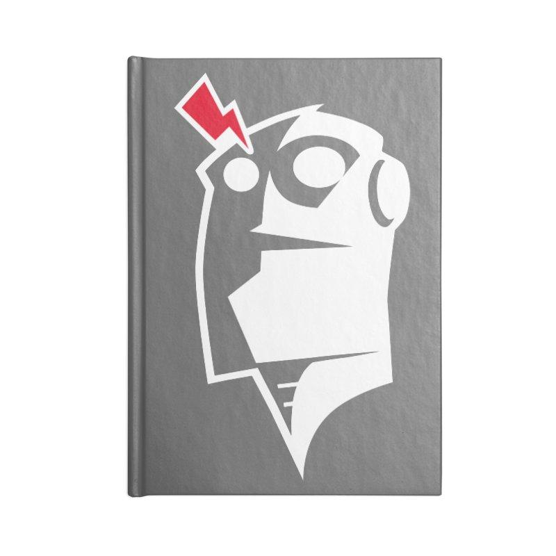 Robot Head Accessories Blank Journal Notebook by Brett Jordan's Artist Shop