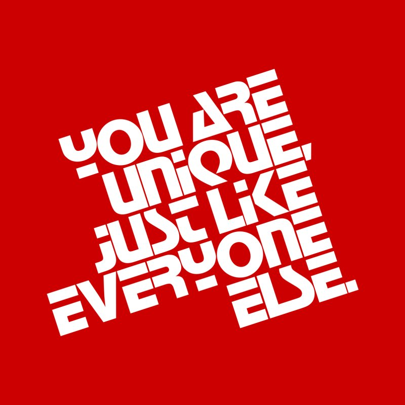 You are unique, just like everyone else. Home Rug by Brett Jordan's Artist Shop