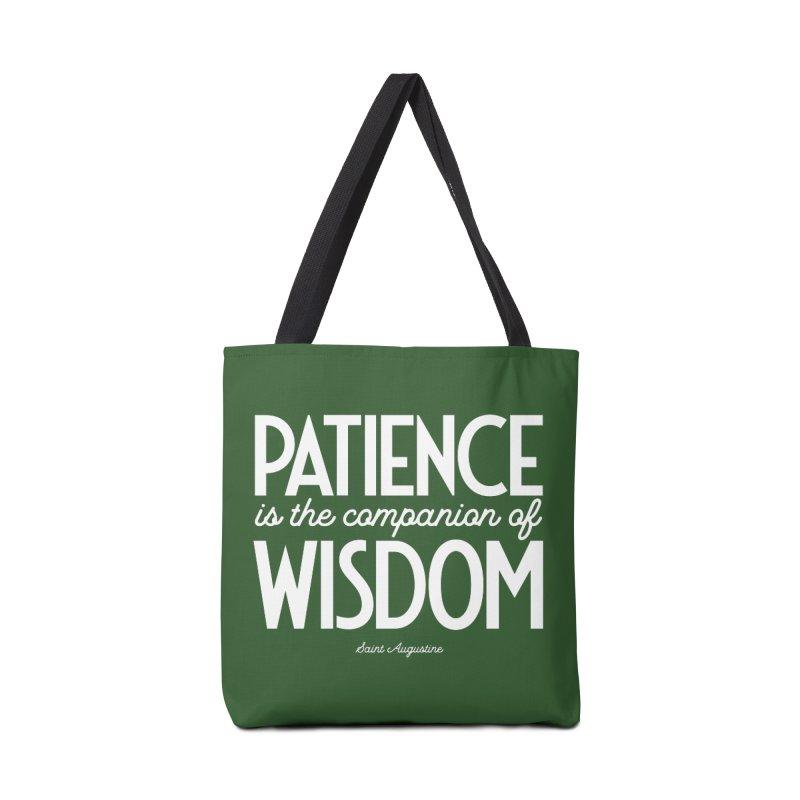 Patience is the companion of wisdom Accessories Bag by Brett Jordan's Artist Shop
