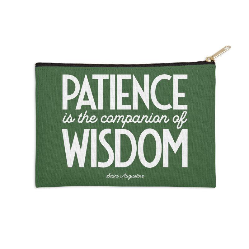 Patience is the companion of wisdom Accessories Zip Pouch by Brett Jordan's Artist Shop